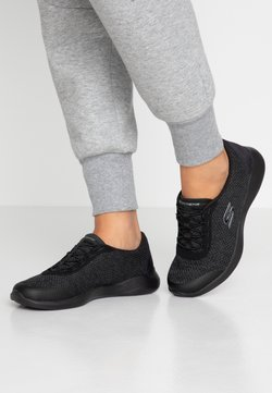 Skechers - ENVY - Loaferit/pistokkaat - black/charcoal