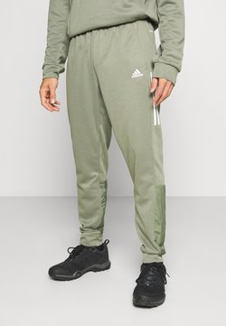 adidas Performance - MUST HAVES AEROREADY SPORTS REGULAR PANTS - Verryttelyhousut - green
