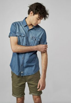 Koroshi - MANGA CORTA - Camisa - azul denim
