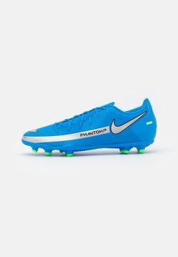 Nike Performance - PHANTOM GT CLUB FG/MG - Tekonurmikengät - photo blue/metallic silver/rage green