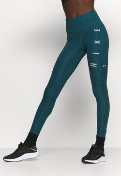 Nike Performance - RUN EPIC FAST - Tights - dark teal green/silver