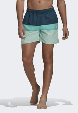 adidas Performance - SHORT-LENGTH COLORBLOCK BADESHORTS - Szorty kąpielowe - turquoise
