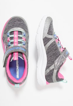 Skechers Performance - TRAINER LITE - Trainers - charcoal/hot pink
