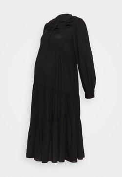 Topshop Maternity - DAISY GRANDAD - Vestido informal - black