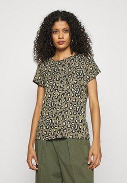 Banana Republic - COZY SLUB CREW - T-Shirt print - cool leopard