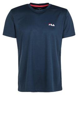 Fila - LOGO SMALL - T-Shirt basic - blue peacot