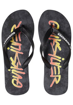 Quiksilver - Tongs - black/black/yellow
