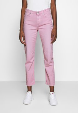 Marc O'Polo - HIGH WAIST CROPPED LENGTH - Jeans a sigaretta - bleached berry