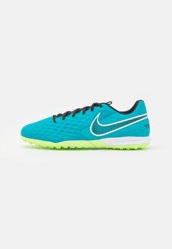 Nike Performance - TIEMPO LEGEND 8 ACADEMY TF - Korki Turfy - aquamarine/white/lime glow