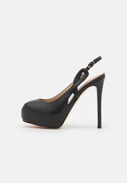 Guess - GINNIA - Zapatos de plataforma - black
