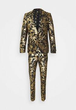 Twisted Tailor - MAMBO SUIT SET - Garnitur - black gold