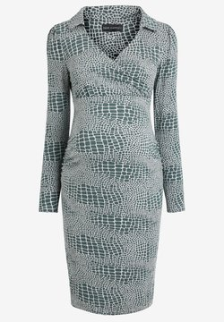 Next - MATERNITY COLLAR DETAIL JERSEY DRESS - Vestido de tubo - teal