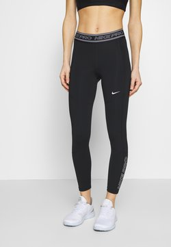 Nike Performance - TIGHT 7/8  - Tights - black/white