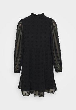 Vero Moda Petite - VMFLUFFY TURTLENECK DRESS - Korte jurk - black
