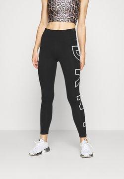 DKNY - HIGH WAIST LONG LINE LEGGING - Tights - black/white