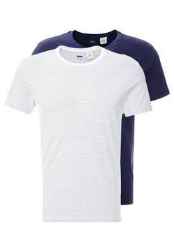 Levi's® - CREWNECK 2 PACK - T-shirt imprimé - olive/white/dress blues