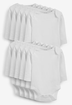 Next - 10 PACK ESSENTIAL LONG SLEEVE  - Body - white