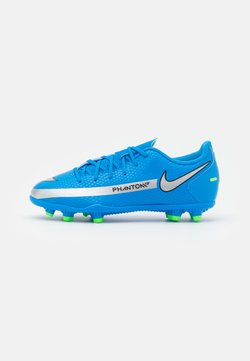 Nike Performance - JR PHANTOM GT CLUB FG/MG UNISEX - Chaussures de foot à crampons - photo blue/metallic silver/rage green