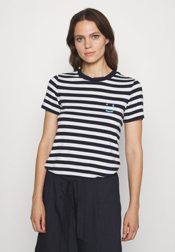 Marc O'Polo DENIM - SHORT SLEEVE STRIPE - T-Shirt print - multi/scandinavian blue