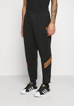 adidas Originals - TRACK PANT UNISEX - Jogginghose - black/trace orange