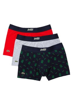 Lacoste - 3 PACK - Shorty - blanc/gris chine /rouge
