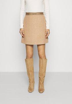 Calvin Klein - DOUBLE FACE SKIRT - Minirock - hazel melange