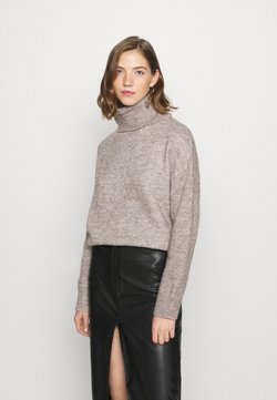 Even&Odd - BASIC-TURTLE NECK OVERSIZED - Neule - taupe