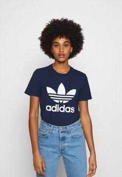 adidas Originals - TREFOIL TEE - T-shirt z nadrukiem - collegiate navy/white