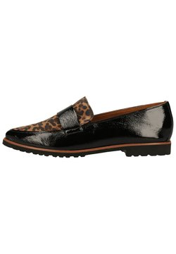 Paul Green - Slipper - schwarz/leopard-muster 007