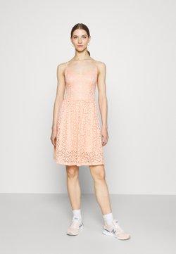 ONLY - ONLNEW ALBA SMOCK MIX DRESS - Vestido de cóctel - peach melba