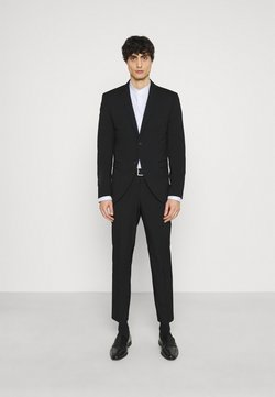 Selected Homme - SLHSLIM MYLOLOGAN CROP SUIT - Puku - black