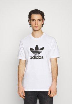 adidas Originals - TREFOIL UNISEX - Printtipaita - white/black