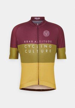 8848 Altitude - SKYLINE BIKE - T-Shirt print - burgundy