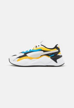 Puma - RS-X³ PRISM UNISEX - Sneakers laag - white/spectra yellow