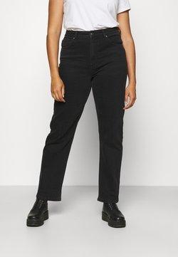 ONLY Carmakoma - CARMEGANI WIDE - Jeansy Straight Leg - black denim