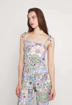NEW girl ORDER - FLOWER POWER TIE UP STRAPPY - Top - multi
