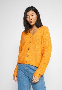 Esprit Collection - V NECK CARDIGAN - Neuletakki - honey yellow