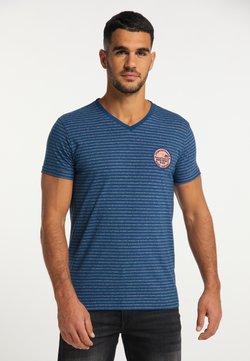 Petrol Industries - T-Shirt print - dark capri