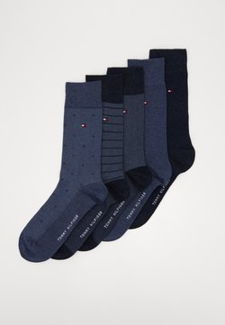 Tommy Hilfiger - SOCK FINE STRIPE GIFTBOX 5 PACK - Socken - jeans