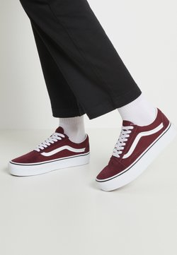 Vans - OLD SKOOL PLATFORM - Sneaker low - port royale/true white