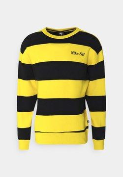 Nike SB - NOVELTY CREW UNISEX - Sweatshirt - university gold/black