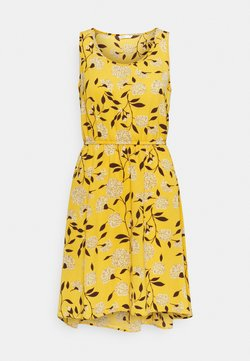 ONLY - ONLNOVA SARA DRESS - Vapaa-ajan mekko - golden yellow/white