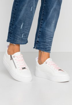 TOM TAILOR DENIM - Sneaker low - white/neon pink