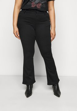 CAPSULE by Simply Be - SHAPE AND SCULPT - Jean bootcut - black