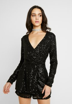 Nly by Nelly - SEQUIN PLAYSUIT - Combinaison - black