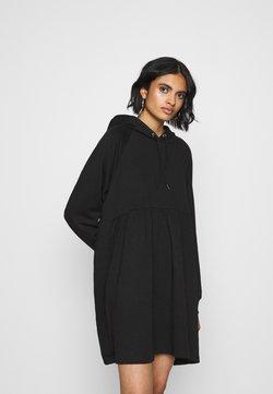 Monki - MALIN HOODIE DRESS - Korte jurk - black dark unique