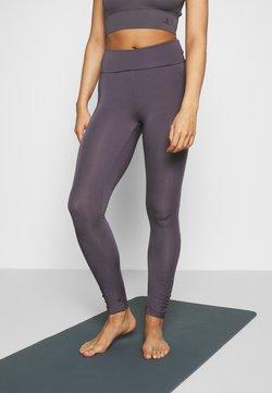 Curare Yogawear - RUFFLED LEGGINGS - Medias - greyberry