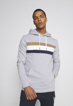 Burton Menswear London - CHEST PANEL OVERHEAD HOOD - Sweatshirt - grey