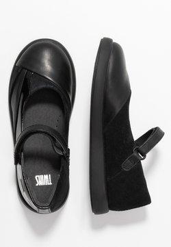 Camper - TWINS - Ankle strap ballet pumps - black