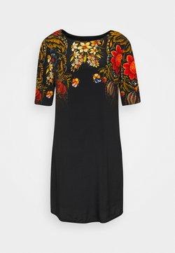 Desigual - VEST BUTTERFLOWER DESIGNED BY MR CHRISTIAN LACROIX - Korte jurk - black